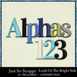 Look On The Bright Side Alphabets-$3.49 (Just So Scrappy)