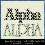 Look on the bright side kit alphabets small