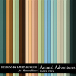 Animal Adventures Solid Paper Pack-$4.99 (Laura Burger)