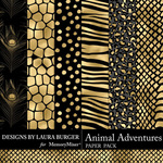 Animal Adventures Gold and Black Papers-$4.99 (Laura Burger)