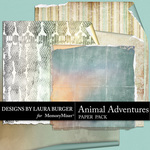 Animal Adventures Curled Paper Pack-$4.99 (Laura Burger)