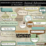 Animal Adventures Labels Pack-$4.99 (Laura Burger)