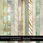 Animal Adventures Pattern Paper Pack-$4.99 (Laura Burger)