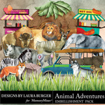 Animal Adventures Embellishment Pack 3-$4.99 (Laura Burger)