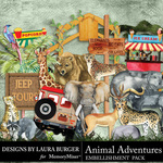 Animal Adventures Embellishment Pack 2-$4.99 (Laura Burger)