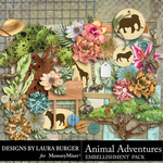 Animal Adventures Embellishment Pack 1-$4.99 (Laura Burger)