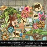 Animal Adventures Embellishment Pack 1-$3.50 (Laura Burger)