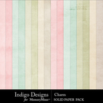 Charm Solid Paper Pack-$2.99 (Indigo Designs)