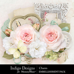 Charm Embellishment Pack-$3.99 (Indigo Designs)