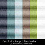 Blueberries Cardboard Paper Pack-$2.49 (Ooh La La Scraps)