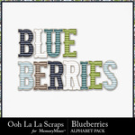 Blueberries alphabets small