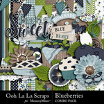 Blueberries Combo Pack-$4.99 (Ooh La La Scraps)