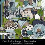 Blueberries Combo Pack-$3.50 (Ooh La La Scraps)