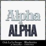 Blueberries kit alphabets small