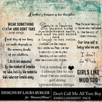 Dont Call Me All Tomboy WordArt Pack-$4.99 (Laura Burger)