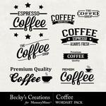 Coffee wordart small