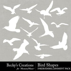 Bird shapes medium