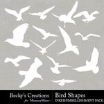 Bird shapes small