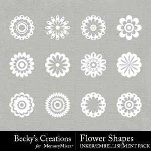 Flower shapes medium
