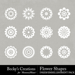 Flower shapes small