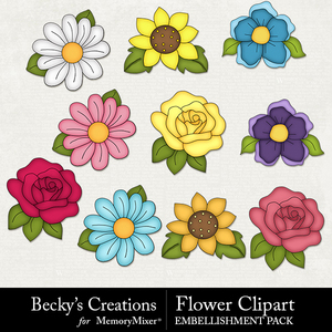 Flower clipart medium