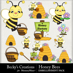 Honey bees medium