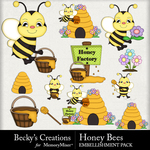 Honey bees small