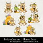 Honey Bears Embellishment Pack-$2.99 (Becky's Creations)