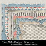 Shoreline TM Tattered Paper Pack-$2.99 (Tami Miller)