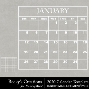 2020 calendar templates medium