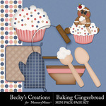 Baking gingerbread small