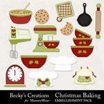 Christmas Baking Embellishment Pack-$2.99 (Becky's Creations)
