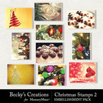 Christmas Stamps Pack 2-$2.10 (Becky's Creations)