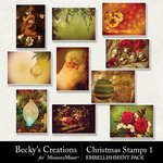 Christmas Stamps Pack 1-$2.10 (Becky's Creations)