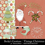 Vintage Christmas BC Combo Pack-$3.50 (Becky's Creations)