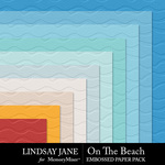 On The Beach Embossed Paper Pack-$2.49 (Lindsay Jane)