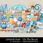 On The Beach Embellishment Pack-$3.49 (Lindsay Jane)