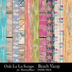 Beach Vacay Worn Wood Paper Pack-$2.49 (Ooh La La Scraps)