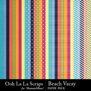 Beach vacay pattern papers medium
