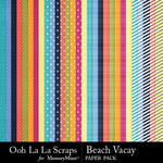 Beach vacay pattern papers small