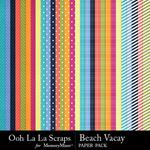 Beach Vacay Pattern Paper Pack-$2.49 (Ooh La La Scraps)