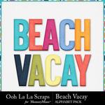Beach vacay alphabets small