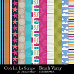 Beach vacay kit papers small