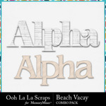 Beach vacay kit alphabets small