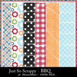 BBQ Worn and Torn Paper Pack-$2.49 (Just So Scrappy)