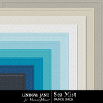 Sea Mist Embossed Paper Pack-$2.49 (Lindsay Jane)