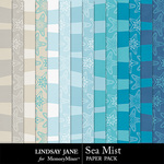 Sea Mist Extra Paper Pack-$2.49 (Lindsay Jane)
