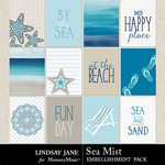 Sea Mist Journal Cards Pack-$2.49 (Lindsay Jane)