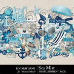 Sea Mist Embellishment Pack-$3.49 (Lindsay Jane)