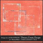 Dream Create Escape Overlay Borders-$4.99 (Laura Burger)